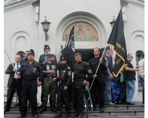 Group of Serbs leaving church July 17, 2016