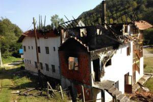 Požar u konaku manastira Sv. Nikolaja u Draževini